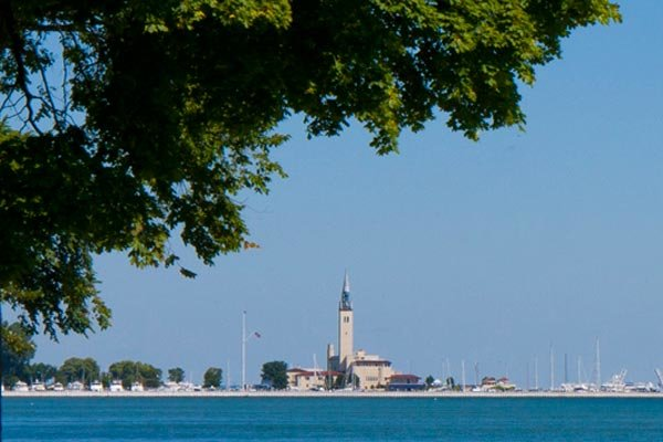 The water view from your waterfront home in Grosse Pointe