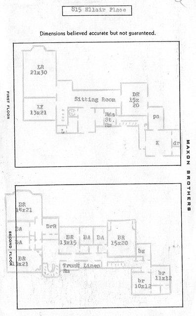 815 Ellair Floor Plan